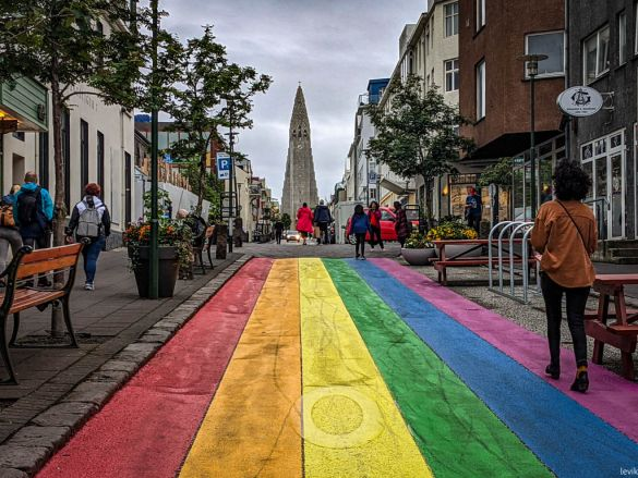 Разноцветные улицы Рейкьявика