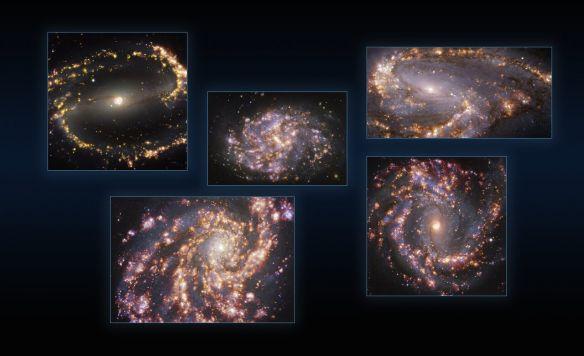 VLT и ALMA изучили процессы звездообразования в соседних галактиках