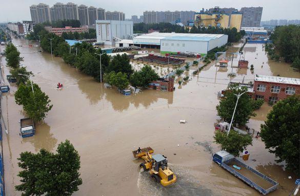 Наводнение в Китае — такое не часто вижу
