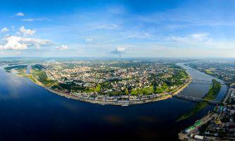 Нижний Новгород с вертолёта