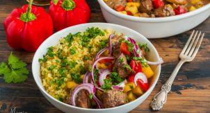 Мясо с овощами и витаминами