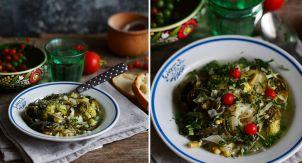 Зелёный овощной суп