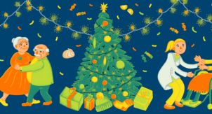 Новогодний сбор подарков для бабушек и дедушек
