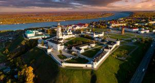Тобольск с высоты. Бывшая столица Сибири