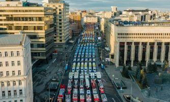 Парад городской техники в Москве