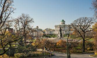Москва. Закат золотой осени