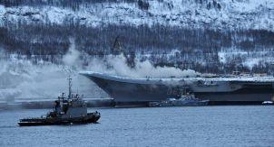 Очередной пожар на тяжёлом авианесущем крейсере