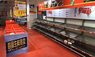 Обработка улиц в Китае при эпидемии