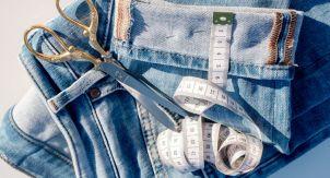 Старые джинсы — как сшить жилет
