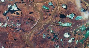 Разлив топлива в Норильске глазами спутника