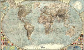 Самопроверка. Сможете определить год карты мира?