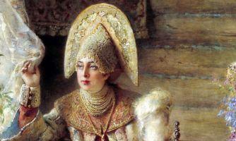 Что русские женщины носили под кокошником?