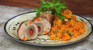 Итальянские тефтели с оливками и морковный рис