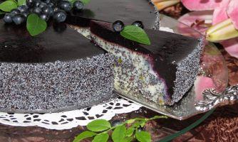 Видеорецепт чернично-макового торта