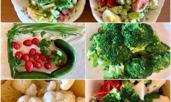 Салат из брокколи и цветной капусты с зеленью