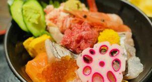 Каисендон с сырыми морепродуктами