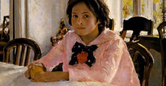Кто изображён накартине «Девочка сперсиками»