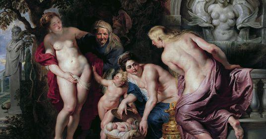 Три девицы и ребенок со змеиным хвостом