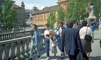 Советские туристы в Югославии и Болгарии. 1990 год
