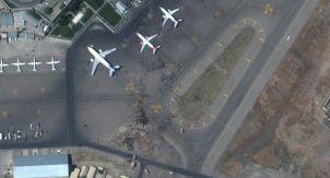 Аэропорт Кабула из космоса