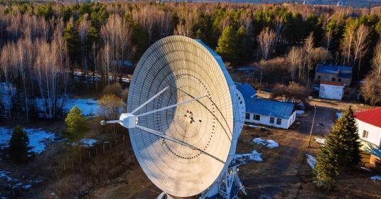 Радиотелескоп в Пущино