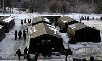 Лагерем стоять. Как военные зимуют в палатках