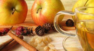 Уютный чай с тимьяном и яблоком