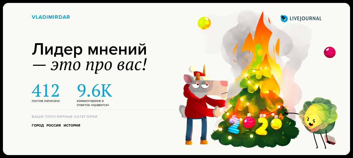 По наводке друзей получил свою новогоднюю открытку-карточку от редакции ЖЖ с итогами года, так что вот! )