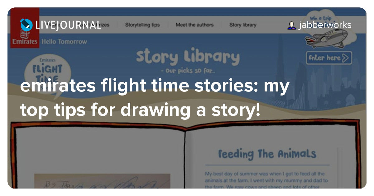 emirates flight time stories: my top tips for drawing a story