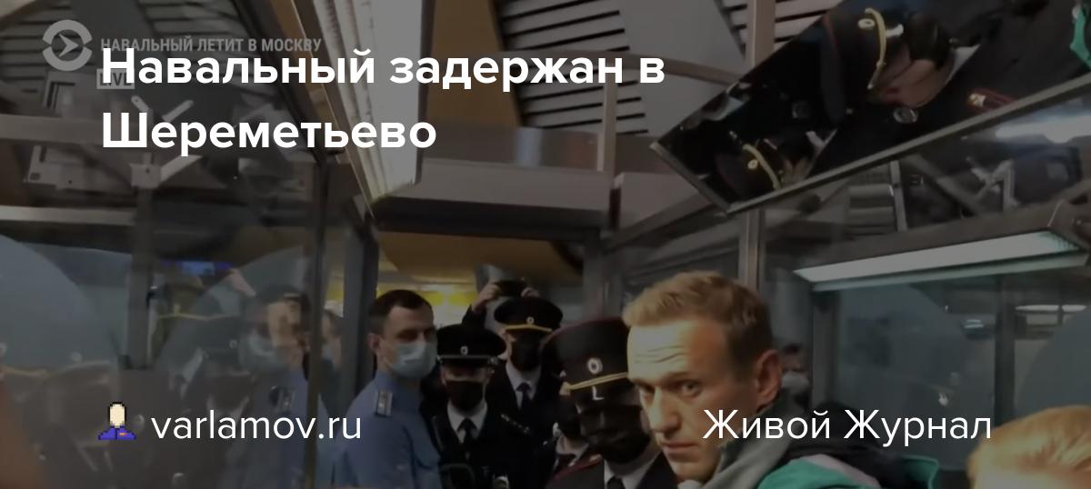 Навальный задержан в Шереметьево
