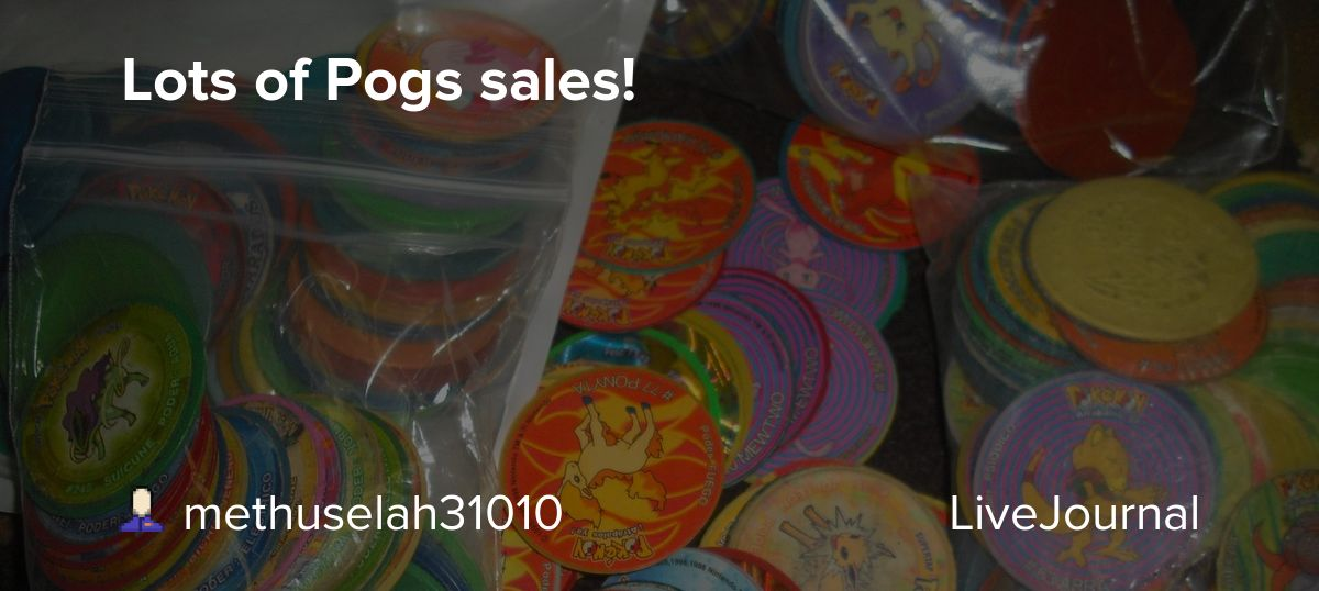 Lots of Pogs sales!: pkmncollectors — LiveJournal