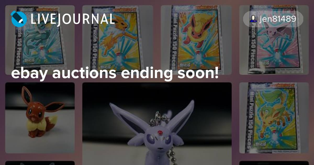 Ebay Auctions Ending Soon Pkmncollectors Livejournal