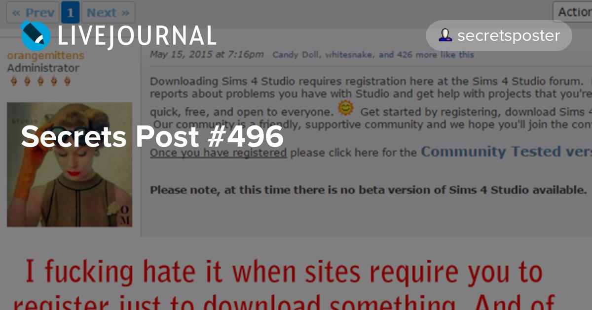 Secrets Post #496: simsecret — LiveJournal