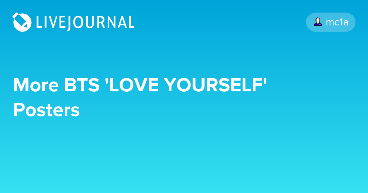 More BTS 'LOVE YOURSELF' Posters: omonatheydidnt