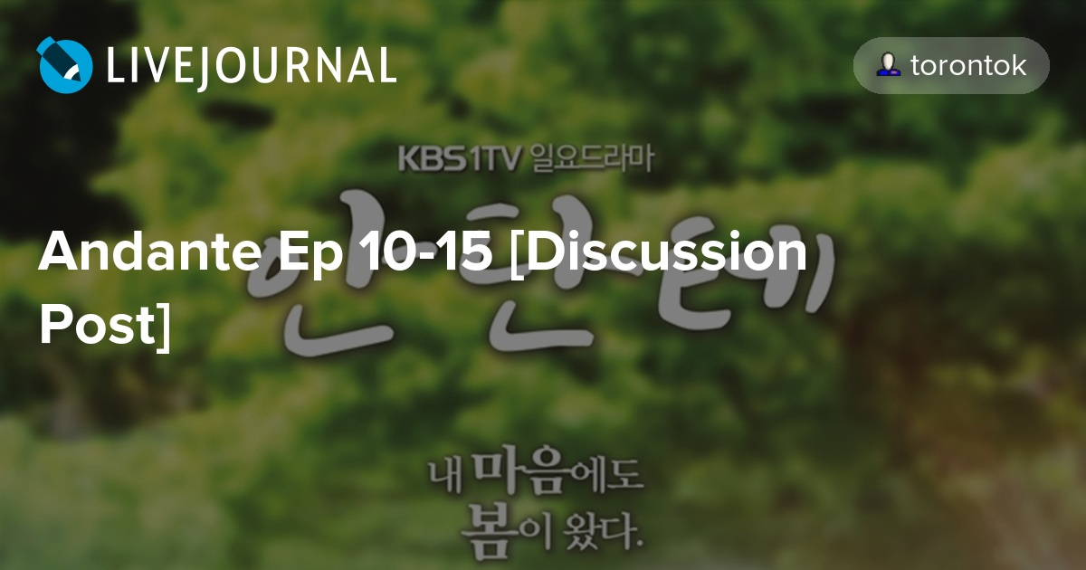 Andante Ep 10-15 [Discussion Post]: omonatheydidnt