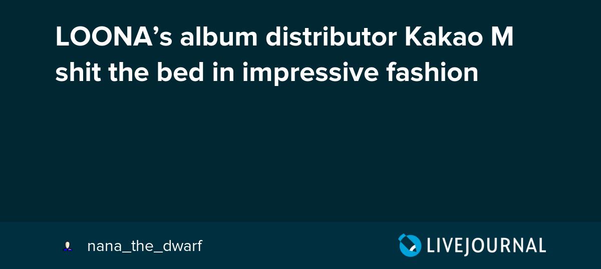 LOONA's album distributor Kakao M shit the bed in impressive fashion