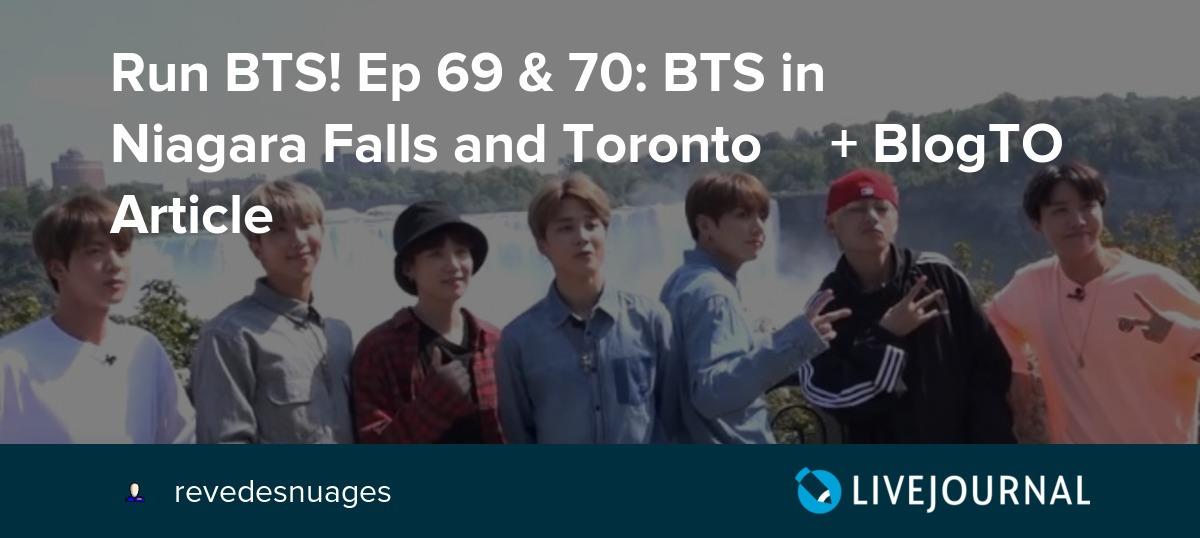 Run BTS! Ep 69 & 70: BTS in 🇨🇦Niagara Falls and Toronto🇨🇦 +