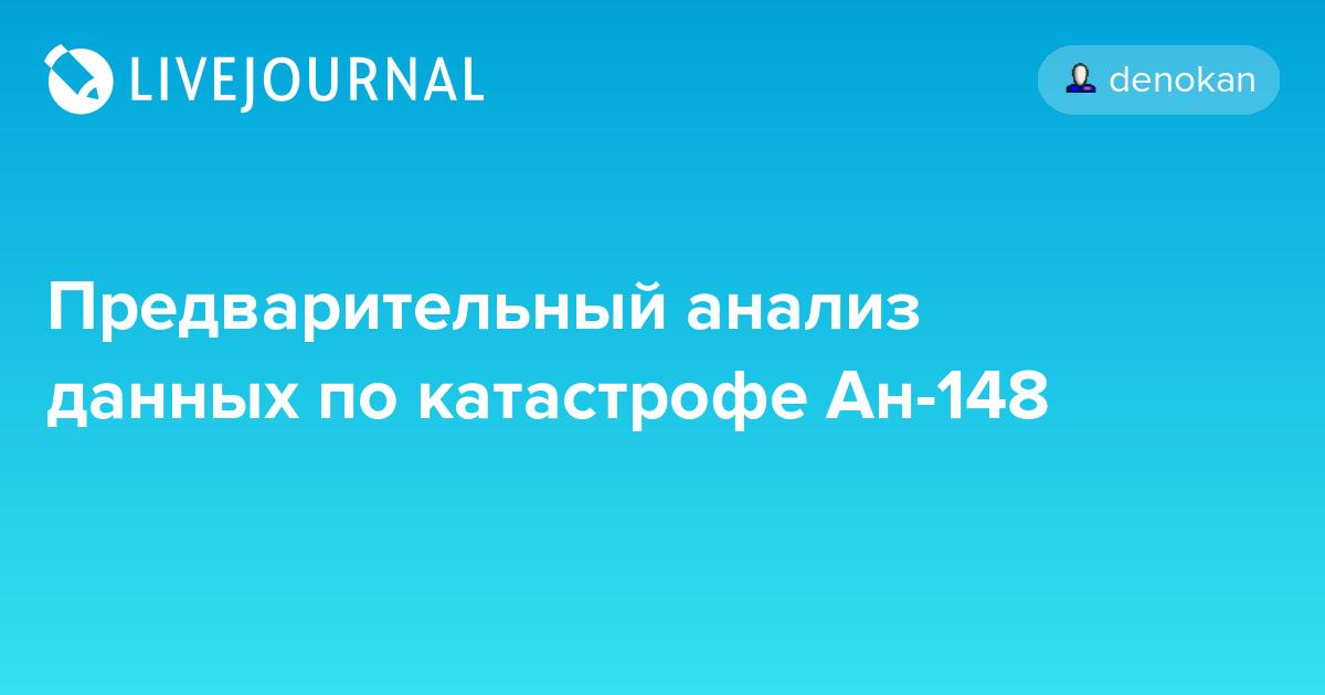 Предварительный анализ данных по катастрофе Ан-148