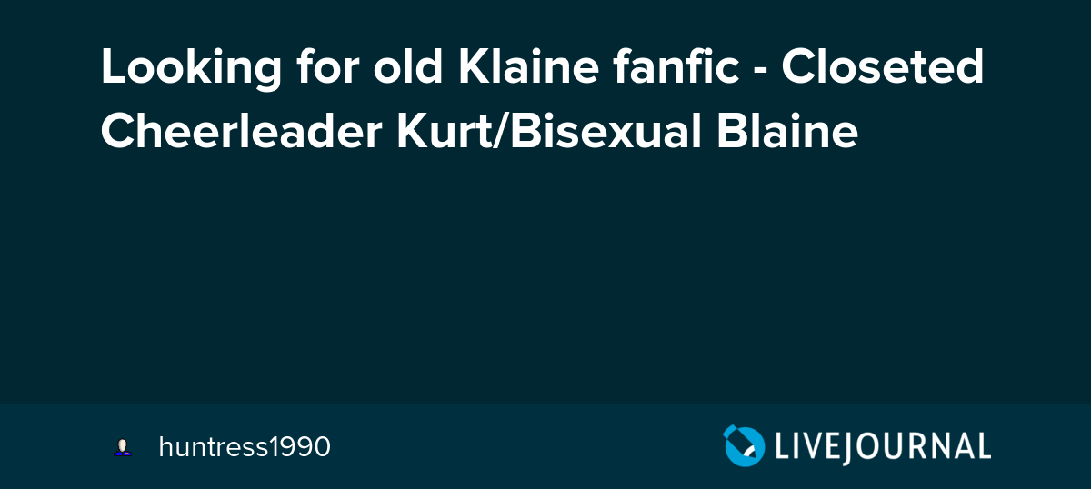Blaine and Kurt started dating a Fanfiction.