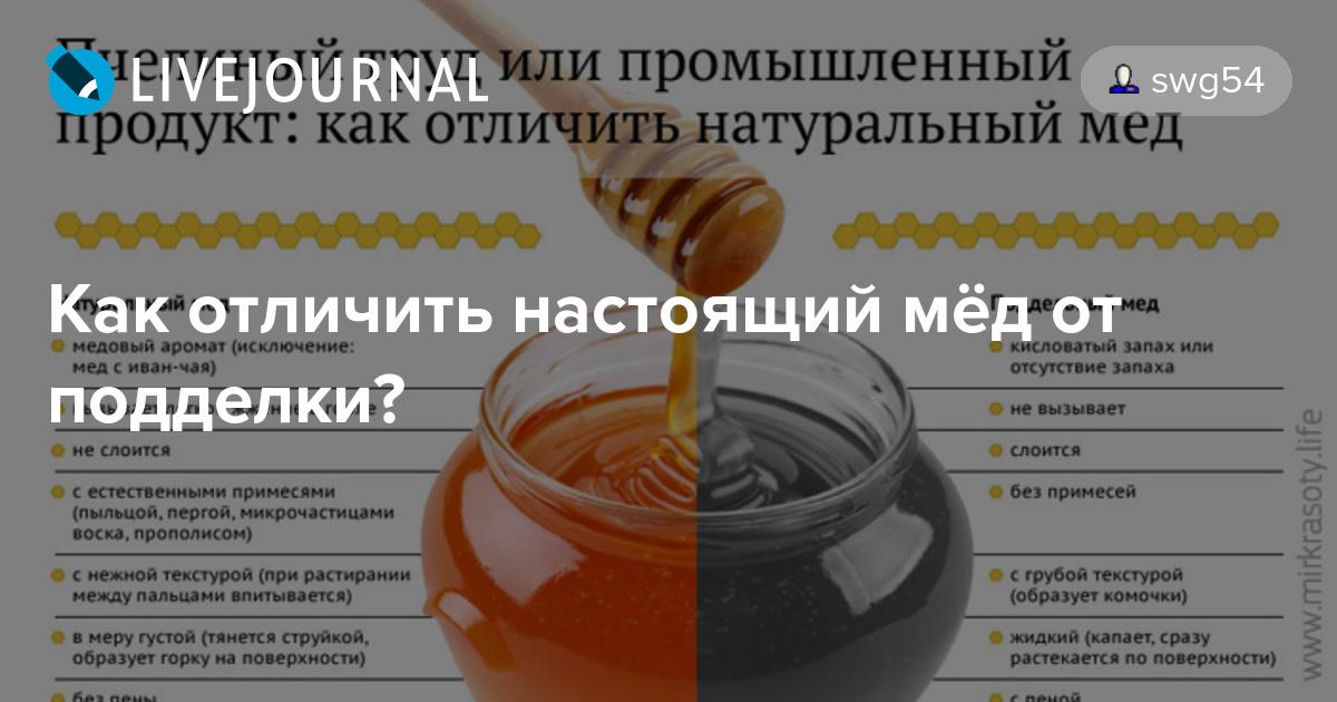 Мед как отличить настоящий мед от подделки в домашних условиях
