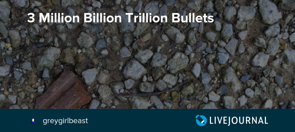 3 Million Billion Trillion Bullets: greygirlbeast — LiveJournal