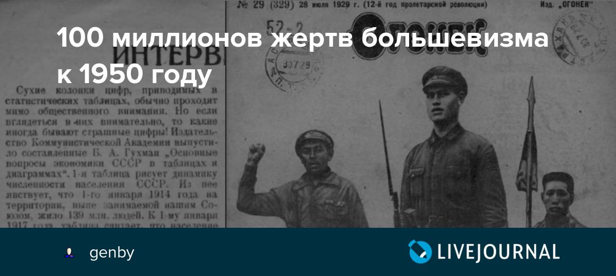 100 миллионов жертв большевизма к 1950 году