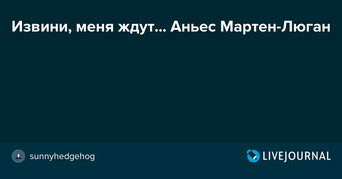 ИЗВИНИ МЕНЯ ЖДУТ АНЬЕС МАРТЕН-ЛЮГАН СКАЧАТЬ БЕСПЛАТНО