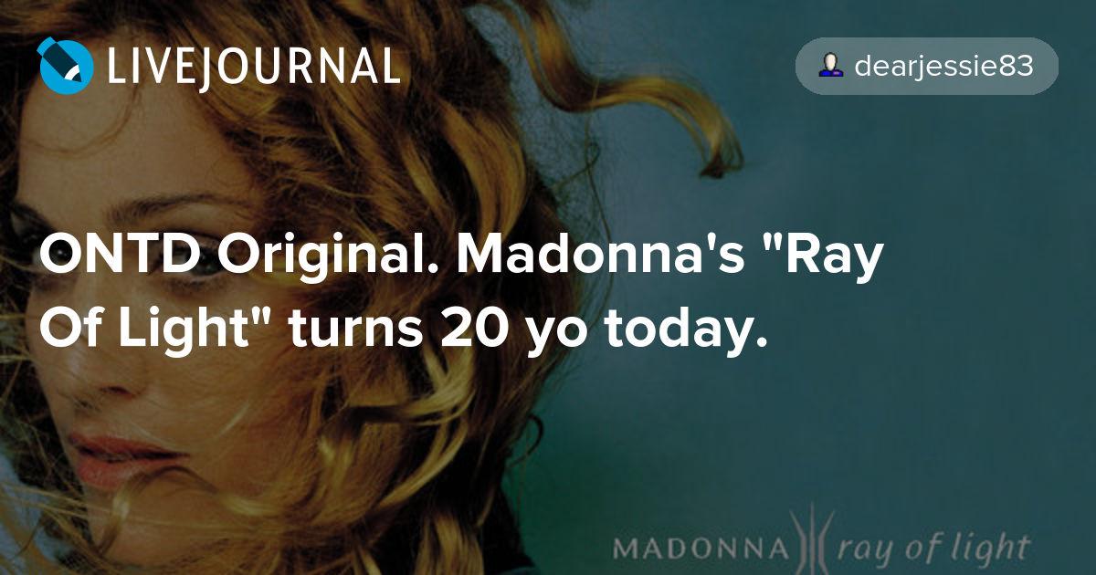 Resultado de imagem para madonna ray of light 20 years