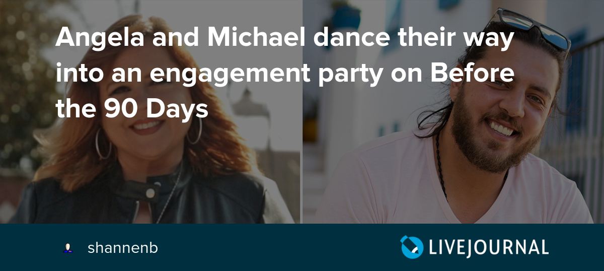 Angela and Michael dance their way into an engagement party on Before the 90 Days