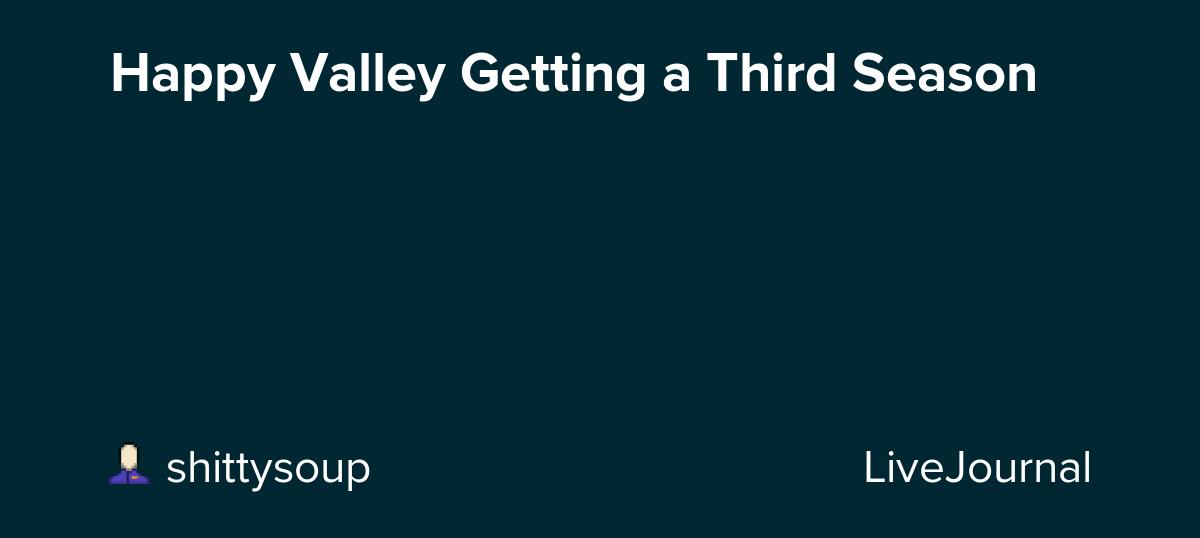 Happy Valley gets a third season