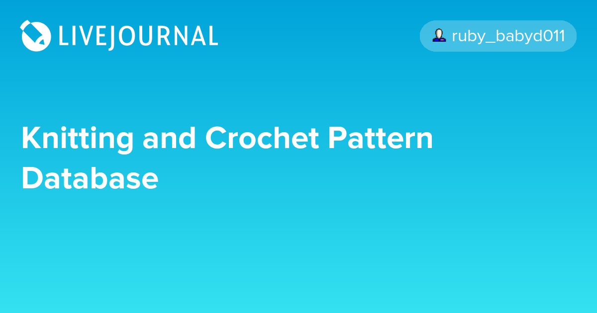 Knitting And Crochet Pattern Database Egl