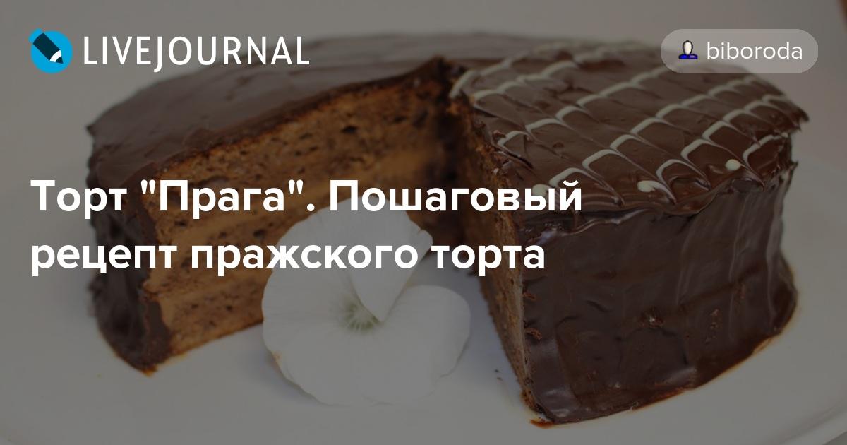 Классический рецепт праги торт пошагово