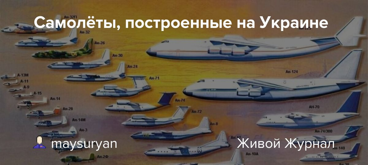 Самолёты, построенные на Украине