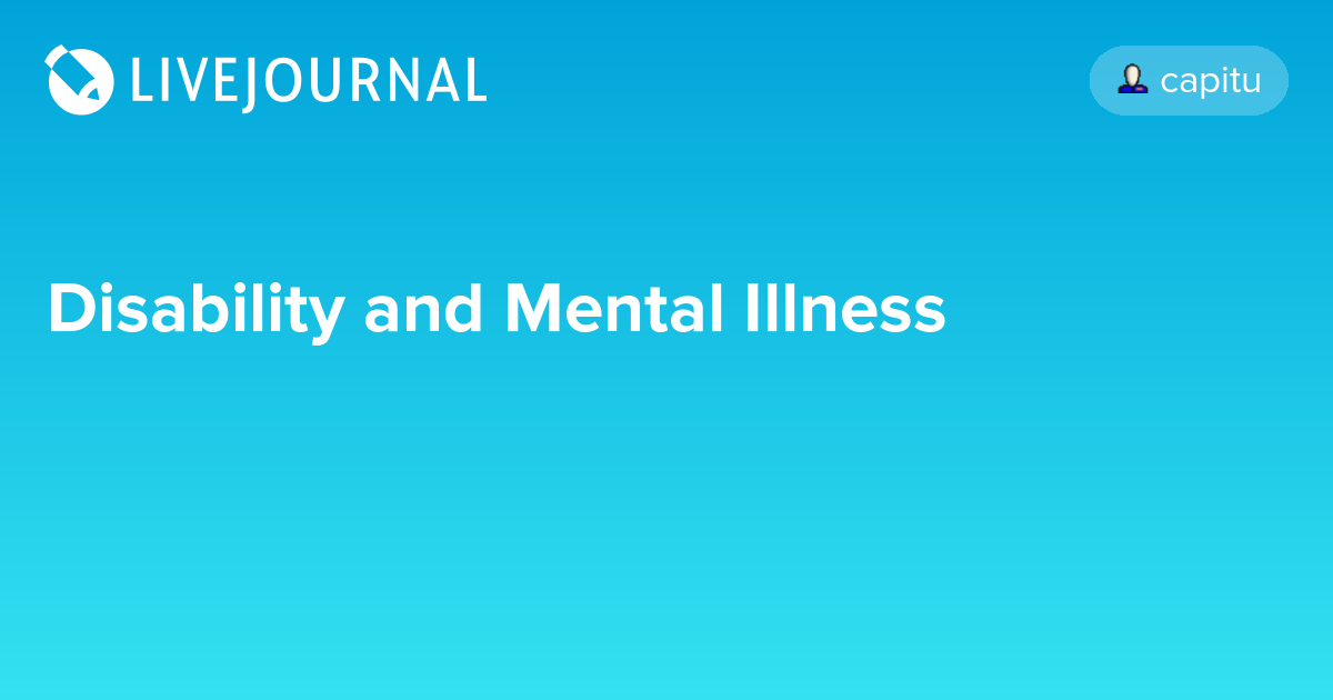Disability and Mental Illness: my_drarry_recs — LiveJournal